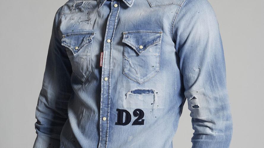 DSQUARED2☆2021年新作デニムシャツ